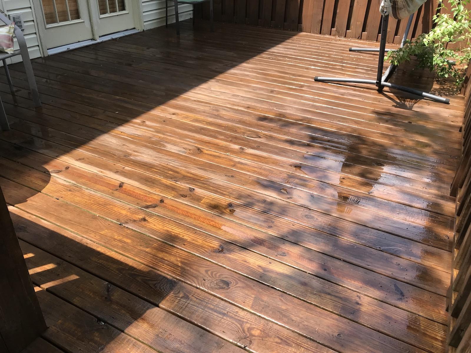deck sealing Nashville tn